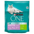 Purina One Sensitive Complete Pet Food for Adult Cats Rich in Turkey and Rice 800 g