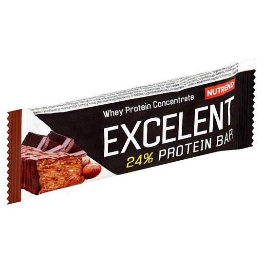 Nutrend Excelent csokoládé és mogyoró ízű fehérje szelet 40 g