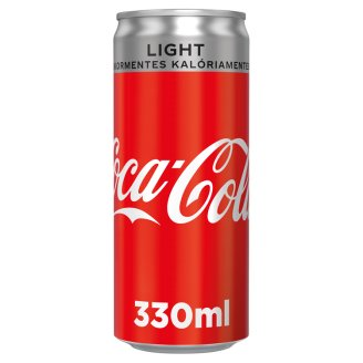 Coca Cola Light Energy-Free Carbonated Soft Drink with Sweeteners 330 ml