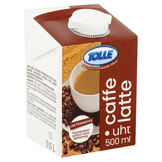 Tolle Caffe Latte UHT Lactose-Free, Low-Fat Coffee Flavoured Milk Drink with Sweetener 0,5 l