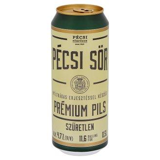 Pécsi Sör Prémium Pils Unfiltered Quality Lager Beer 4,7% 0,5 l
