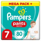 Pampers Pants Size 7, 80 Nappies, 17+kg, Absorbing Channels