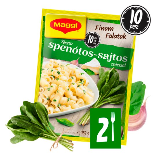 Maggi Finom Falatok Paste with Spinach-Four Cheese Sauce 152 g