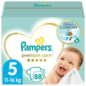 Pampers Premium Care Size 5 (Junior) 11-18kg, 88 nappies