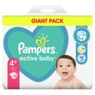 Pampers Active Baby Size 4+, 70 Nappies, 10-15kg