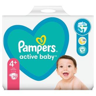 Pampers Active Baby, 4+-os Méret, 70 db Pelenka, 10-15 kg