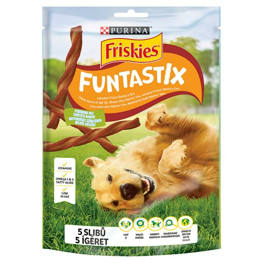 Friskies Funtastix Complementary Pet Food For Adult Dogs with Bacon & Cheese Flavour 175 g