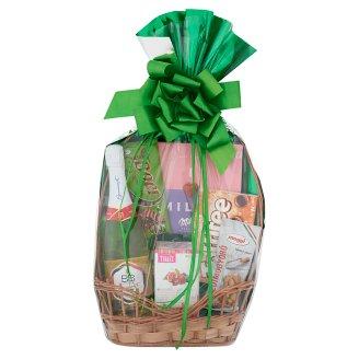 Kicsi zöld ajándékkosár