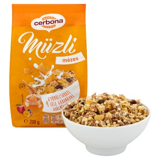 image 2 of Cerbona Muesli with Honey 200 g