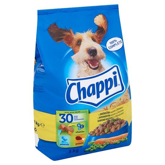 Chappi Complete Food for Adult Dogs with Poultry and Vegetables 3 kg