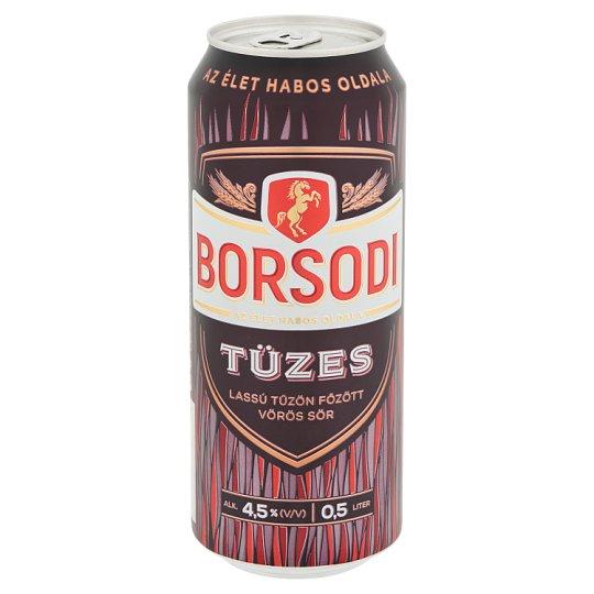 Borsodi Tüzes lassú tűzön főzött vörös sör 4,5% 0,5 l