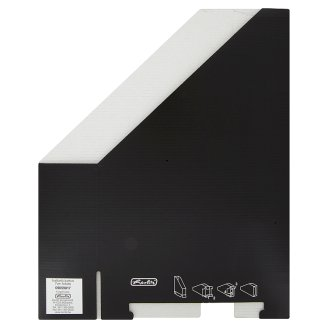 Herlitz Black Cardboard Folder