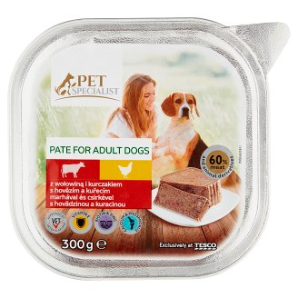 Tesco Pet Specialist Complete Dog Food Pate with Beef and Chicken 300 g