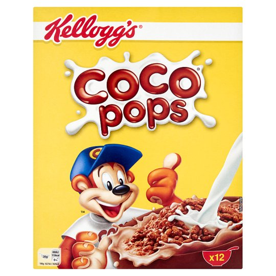 Kellogg's Coco Pops Chocolate Flavour Toasted Rice 375 g