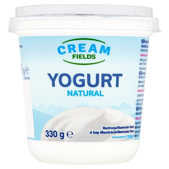 Cream Fields Low-Fat Unflavoured Yoghurt with Live Cultures 330 g