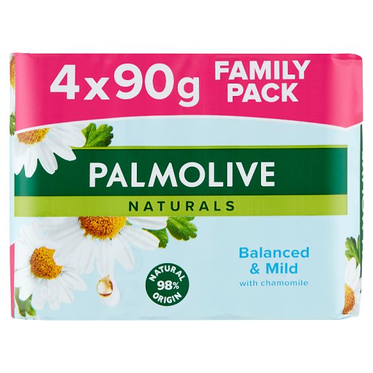 Palmolive Naturals Balanced & Mild Soap with Camomile Extract and Vitamin E 4 x 90 g