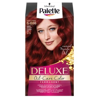 Schwarzkopf Palette Deluxe Oil-Care Color 575 Fire Red Permanent Hair Colorant