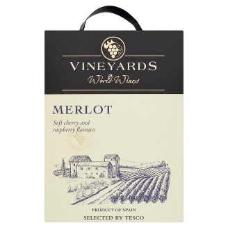 Vineyards World Wines Western Cape W.O. Merlot Dry Red Wine 13,5% 3 l