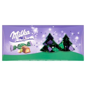 Milka Alpine Milk Chocolate Christmas Candy with Hazelnut Cream and Whole Hazelnut 350 g