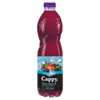 Cappy Ice Fruit Berries Mix Non-Carbonated Mixed Fruit Drink with Hibiscus Flavour 1,5 l