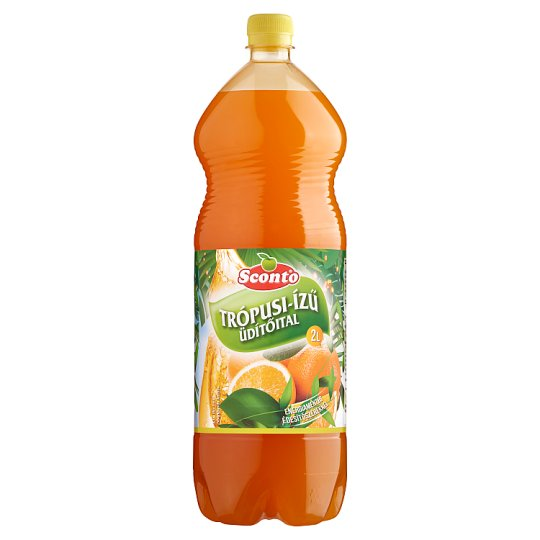 Sconto Energy-Free Tropical Flavoured Soft Drink with Sweeteners 2 l