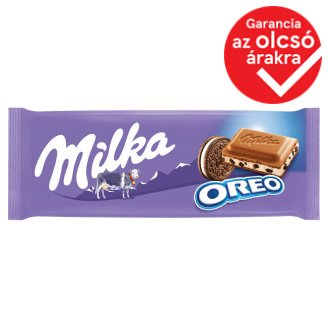 Milka Oreo Alpine Milk Chocolate with Cocoa Biscuit Pieces and Vanilla Flavoured Milky Cream 100 g