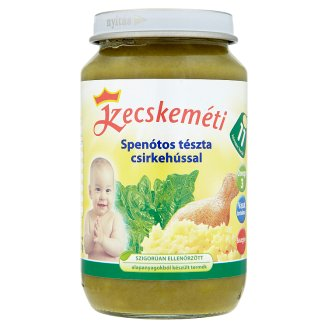 Kecskeméti Pasta with Spinach and Chicken Baby Food 11+ Months 220 g