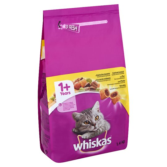 Whiskas Complete Pet Food for Adult Cats with Chicken 1,4 kg