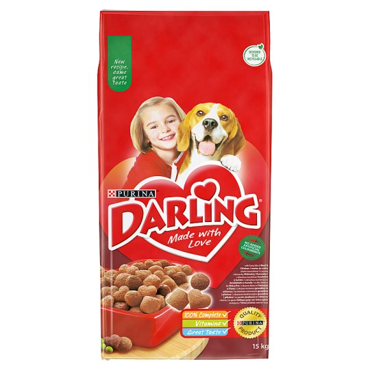 Darling Complete Pet Food for Adult Dogs with Beef 15 kg
