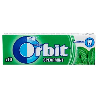 Orbit Spearmint Mint Flavoured Sugar-Free Chewing Gum with Sweetener 10 pcs 14 g