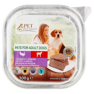 Tesco Pet Specialist teljes értékű állateledel felnőtt kutyák számára pulykával és borjúval 300 g
