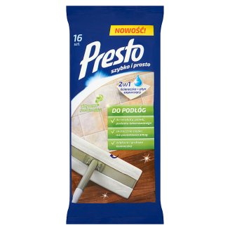 Presto Cleaning Wet Wipes for Floors 16 pcs