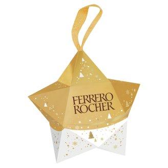Ferrero Rocher Csillag tejcsokoládéval és mogyoródarabkákkal borított ropogós ostya 37,5 g