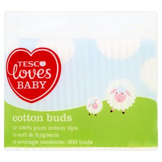 Tesco Loves Baby Cotton Buds 300 pcs