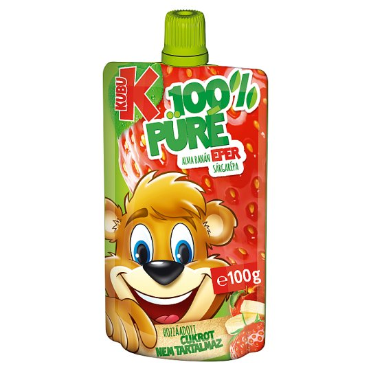 Kubu Apple-Banana-Strawberry-Carrot Purée 100 g