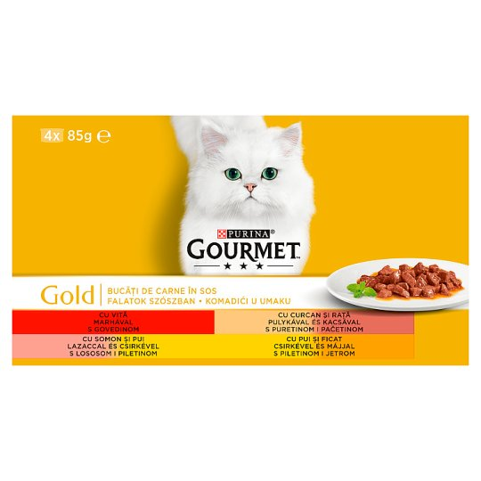 Gourmet Gold Complete Pet Food for Adult Cats 4 x 85 g
