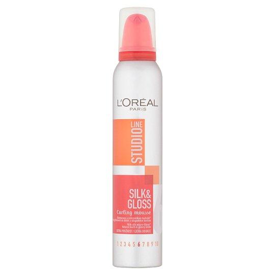 L'Oréal Paris Studio Line Silk & Gloss göndörítő hajhab 200 ml