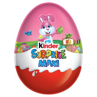 Kinder Surprise Maxi For Girls Milk Chocolate Shell with Milky White Lining Containing Toy 100 g