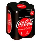 Coca-Cola Zero Energy-Free Carbonated Soft Drink with Sweeteners 4 x 250 ml