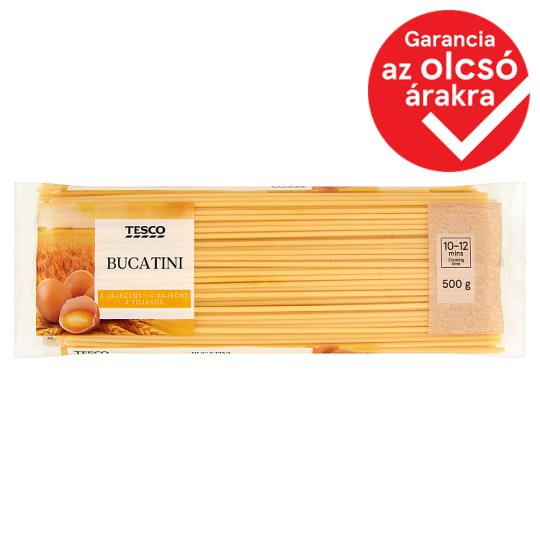 Tesco Bucatini Dry Pasta with 4 Eggs 500 g