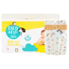 image 2 of Fred & Flo Ultra Dry 3 Midi 5-9 kg Nappies 54 pcs