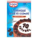 Dr. Oetker étcsokoládés csokoládé betűk és számok 60 g