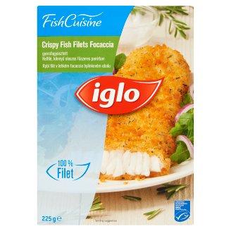 Iglo Fish Cuisine Focaccia Quick-Frozen Breaded Fish Fillet with Italian Spices 225 g