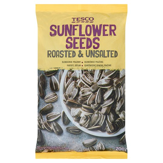 Tesco Roasted & Unsalted Sunflower Seeds 200 g