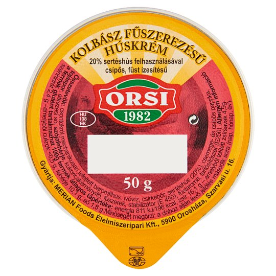 Orsi Sausage Spice Meat Cream 50 g