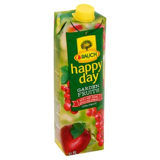 Rauch Happy Day Garden Fruits 100% Apple & Red Currant Fruit Juice 1 l