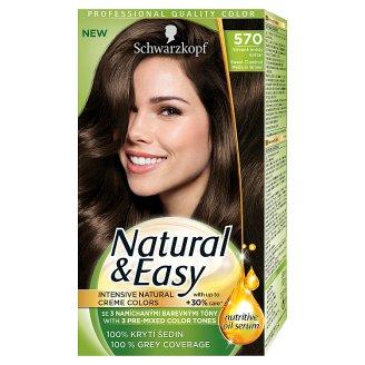 Schwarzkopf Natural & Easy 570 Sweet Chestnut Medium Brown Permanent Hair Colorant