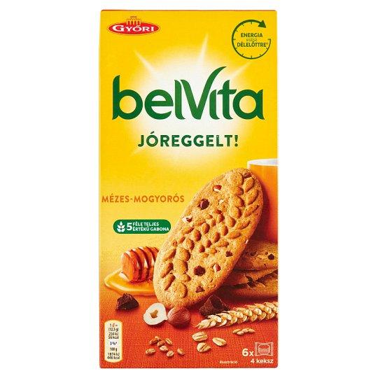 belVita JóReggelt! törökmogyorós és mézes, gabonás omlós keksz 300 g