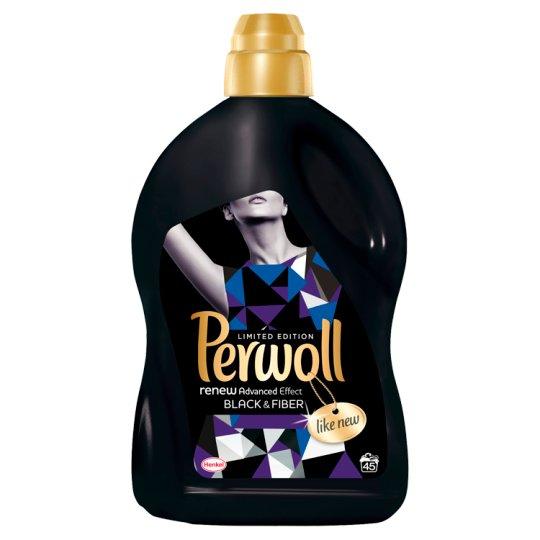 Perwoll renewAdvanced Black & Fiber finommosószer fekete és sötét textíliákhoz 45 mosás 2,7 l