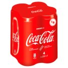 Coca-Cola Carbonated Soft Drink 4 x 250 ml